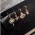 PALMTREE EARRINGS - GOLD