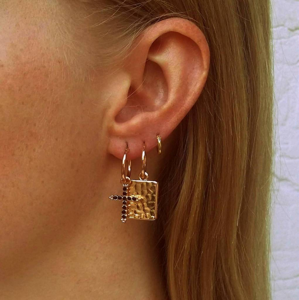 CHARM EARRINGS - GOLD