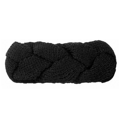 BRAIDED HEADBAND - BLACK