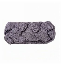 BRAIDED HEADBAND - GREY