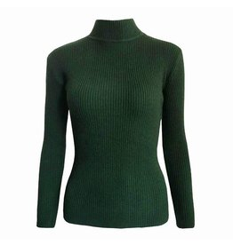 FEMME COL SWEATER - GREEN