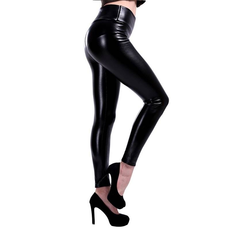 HIGH WAIST LEATHER LEGGING