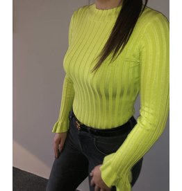 TURTLENECK TOP JACKY  NEON GREEN
