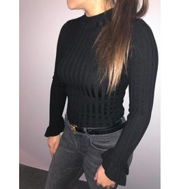 TURTLENECK TOP JACKY BLACK