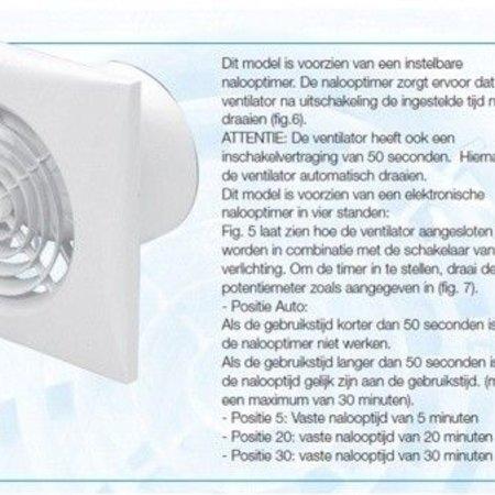 Soler & Palau S&P Silent 100 CRIZ AUTOMATISCHE TIMER Badkamer/ toilet ventilator - Ø100mm