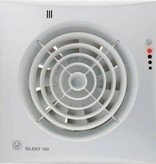 Soler & Palau S&P Silent 100 CHZ Visual TIMER + VOCHTSENSOR Badkamer/ toilet ventilator - Ø100mm