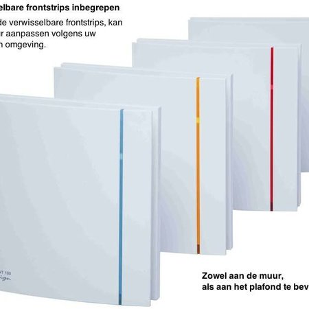 Soler & Palau S&P Silent Design 100 CHZ TIMER + VOCHTSENSOR Badkamer/ toilet ventilator - Ø100mm