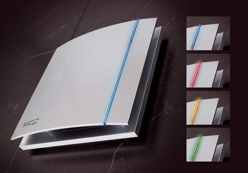 S&P Silent Design 200 CHZ TIMER + VOCHTSENSOR Badkamer toilet ventilator Ø120mm (zilver)
