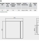 Soler & Palau S&P Silent Design 200 CHZ TIMER + VOCHTSENSOR Badkamer/ toilet ventilator - Ø120mm (zilver)