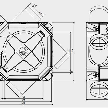 Soler & Palau S&P Woonhuisventilator OZEO-E ECOWATT RF - met eurostekker en afstandsbediening
