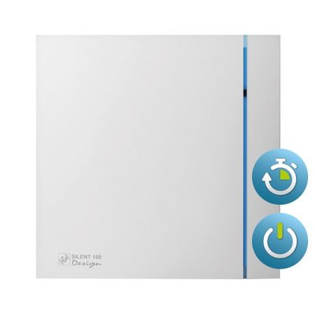 Soler & Palau S&P Silent Design 100 CRZ TIMER Badkamer/ toilet ventilator - Ø100mm