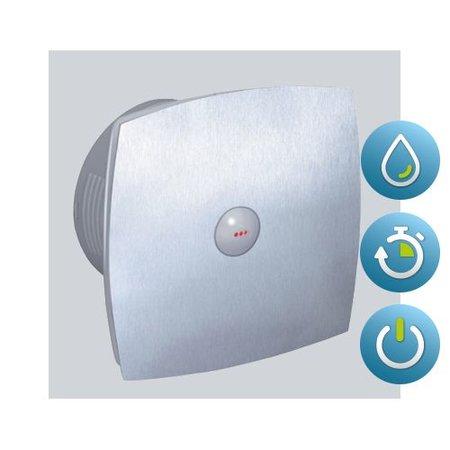 Itho Daalderop Itho Daalderop BTVZ 400 HT badkamer / toilet kanaalventilator RVS 78 m3/h Timer en Hygrostaat 342-0060