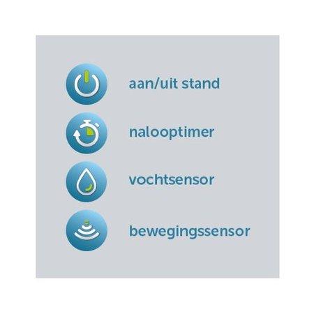 Itho Daalderop Itho Daalderop BTV-ssst HT badkamer / toilet kanaalventilator wit 35-75 m3/h 2 snelheden Timer + Hygrostaat 53-00091