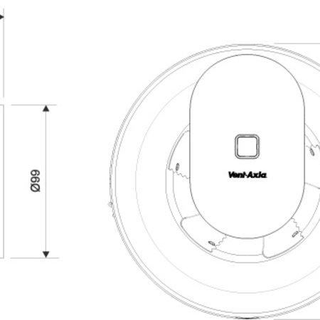 Vent-Axia Vent-Axia Svara 110 m3/h (app gestuurd) - Ø100mm
