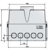 Hybalans Hybalans Plus luchtverdeelkast compleet 450 m3/h - 17 aansluitingen
