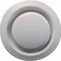 Ventilatie ventiel kunststof rond Ø160mm wit met klemveren