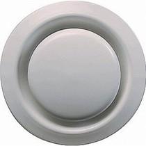 Ventilatie ventiel kunststof rond Ø200mm wit met klemveren
