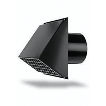 Ventilatie muurrooster Ìü 180 zwart