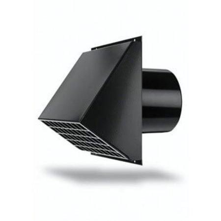 Hybalans Burgerhout Ventilatie muurrooster ÌÎÌ_ 180 zwart