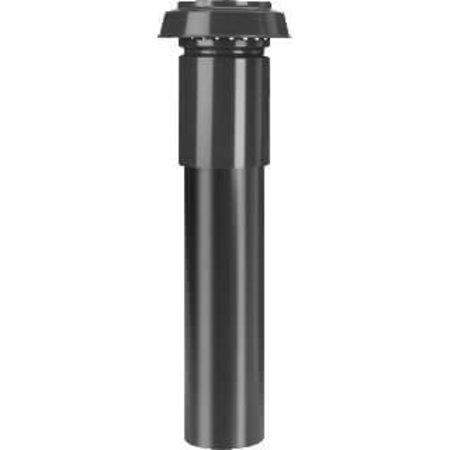 Hybalans Burgerhout Geisoleerd ventilatiedakdoorvoer 150 zwart