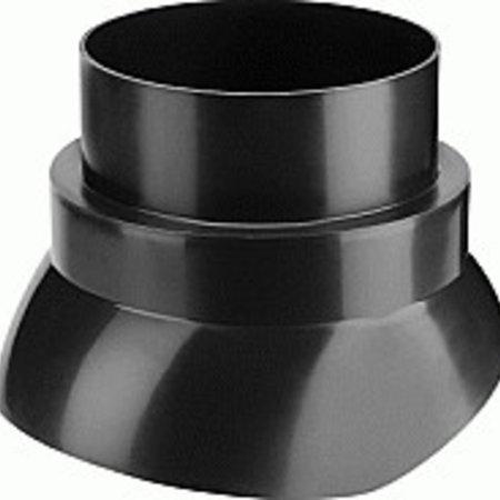 Hybalans Burgerhout Scharnierkap 160mm zwart