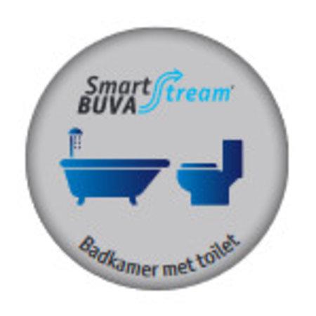 Buva Buva Smartstream Badkamer/toiletklep met vocht & luchtkwaliteit sensor 50 m3/h