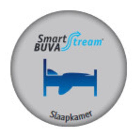 Buva Buva Smartstream Slaapkamerklep met luchtkwaliteitsensor, 30 m3/h