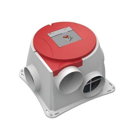 Zehnder NU in de aanbieding voor maar 177,- ! Wees er snel bij -  Comfofan S R ventilator + RFT ontvanger - euro stekker - Zehnder Stork