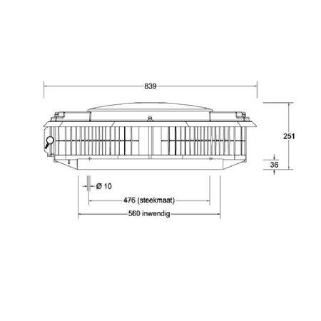 Itho Daalderop Itho Daalderop - dakventilator CAS ECO-fan 2500 ORG 230/400V - drukgeregeld 3150m3/h