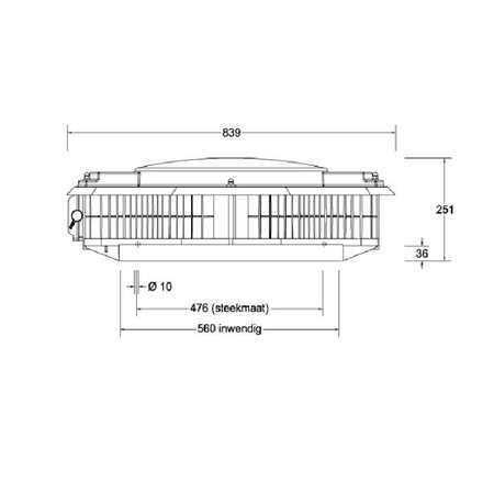 Itho Daalderop Itho Daalderop - dakventilator CAS ECO-fan 3500 ORG 230/400V - drukgeregeld 4200m3/h