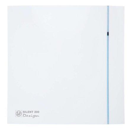 Soler & Palau S&P Silent Design 200 CZ aan/uit Badkamer/ toilet ventilator - Ø120mm