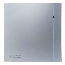 Silent Design 100 CRZ TIMER Badkamer/ toilet ventilator - Ø100mm (zilver)