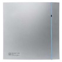 Silent Design 200 CHZ TIMER + VOCHTSENSOR Badkamer/ toilet ventilator - Ø120mm (zilver)