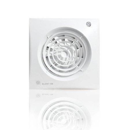 Soler & Palau S&P Silent 100 CDZ TIMER + BEWEGINGSSENSOR Badkamer/ toilet ventilator - Ø100mm