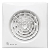 Silent 200 CHZ TIMER + VOCHTSENSOR Badkamer/ toilet ventilator - Ø120mm