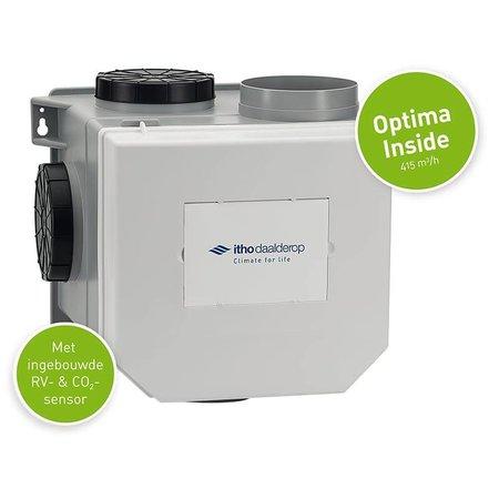 Itho Daalderop Itho Daalderop CVE-S CO2 Optima Inside + ingebouwde RV vochtsensor en CO2 sensor - perilex stekker & euro stekker