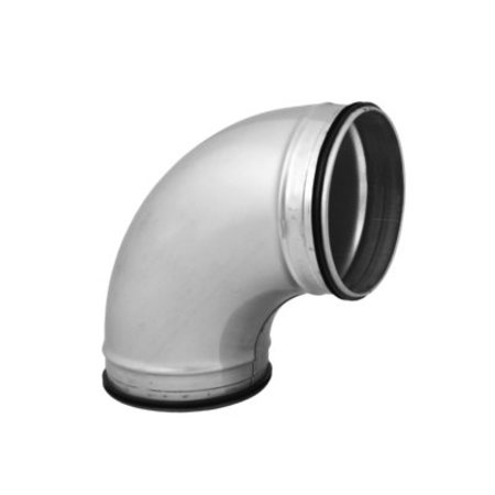 Korte bocht 90º met afdichtingsrubber - geperst - Ø160mm