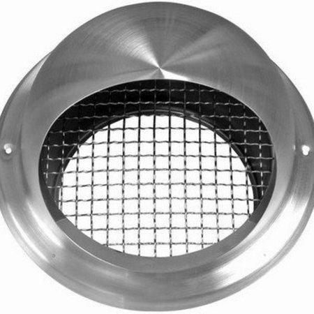 Bolrooster RVS Ø150mm met grofmazig gaas en hoge doorlaat