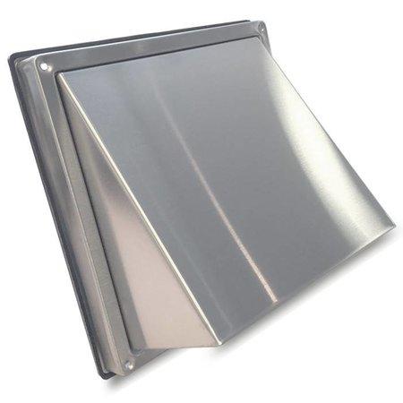 RVS Gevelkap met klep  Ø150mm - staal
