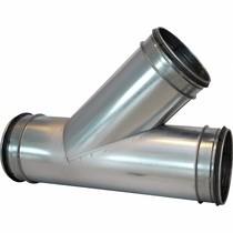 T-stuk 45 graden - Ø100mm x Ø80mm