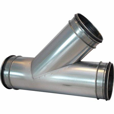 T-stuk 45graden - Ø160mm x Ø160mm x Ø160mm