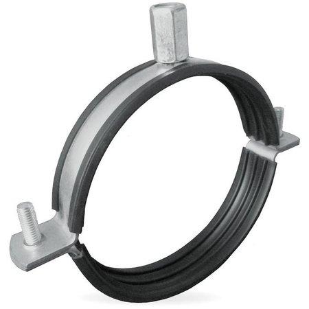 Ophangbeugel voor spirobuis Ø125mm met rubber inlage
