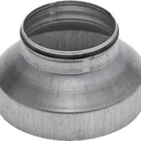 Verloopstuk voor hulpstuk Ø125mm naar spirobuis Ø100mm