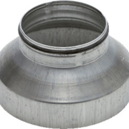 Verloopstuk voor hulpstuk Ø150mm naar spirobuis Ø100mm