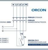 Orcon CV-3 3-standenschakelaar - inbouw