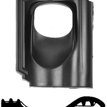 Kunststof dakpan opnieuw verbeterde Holle van Oordt 1-pans Ø110 en Ø131mm