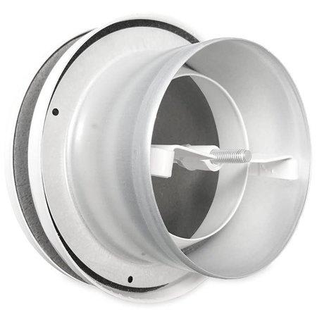 Toevoerventiel Ø80mm - WIT RAL 9016