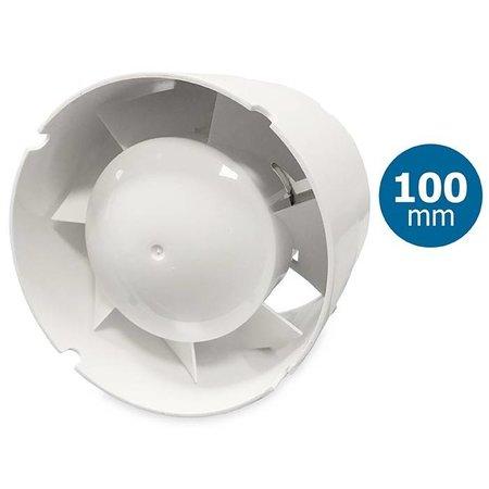 Blauberg TUBO 100 inschuif-buisventilator - in kanaal Ø100mm - met timer