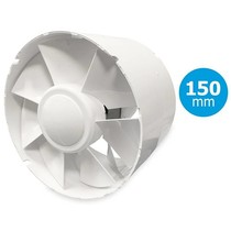 TUBO 150 inschuif-buisventilator - in kanaal Ø150mm