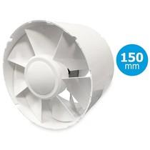 TUBO 150 inschuif-buisventilator - in kanaal Ø150mm - met timer